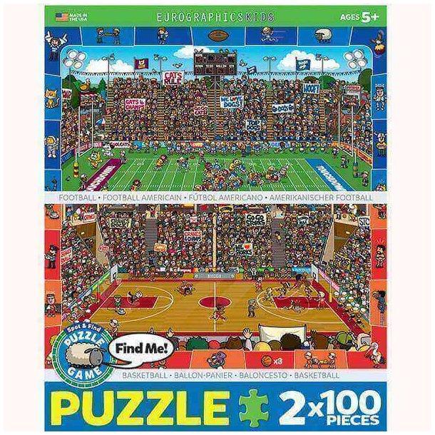 Basketball + Amerikansk fodbold, 2 x 100