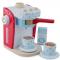 Kaffemaskine, rød/blå - træ