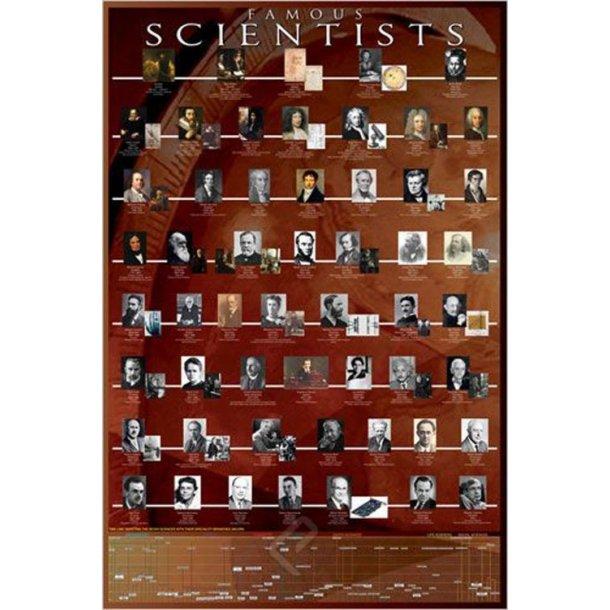 Berømte videnskabsfolk plakat