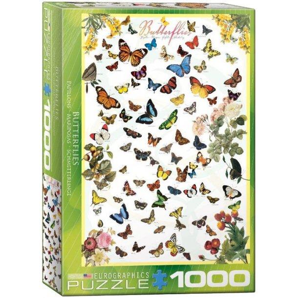 Sommerfugle - 1000 brikker