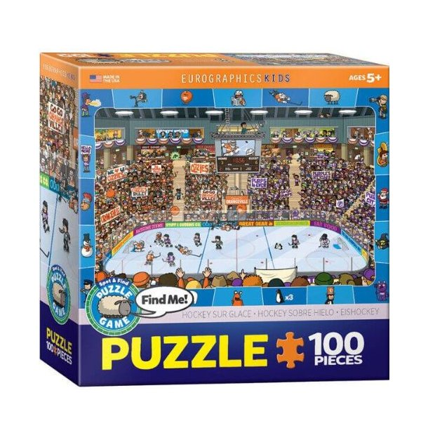 Ishockey puslespil - 100 brikker