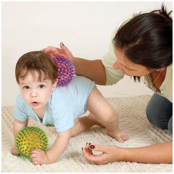 Sansebold - massagebold, 2 farvet, lille