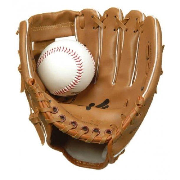Baseball handske med bold