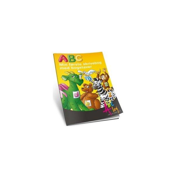 ABC skrivebog med bogstaver