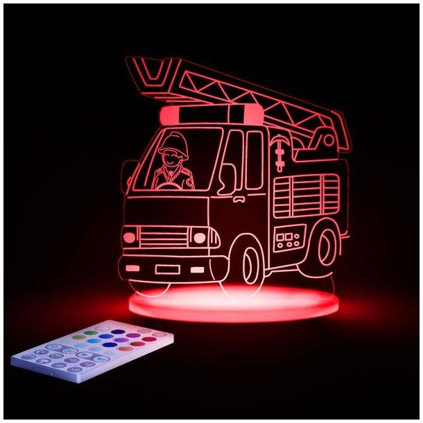 Brandbil, LED nat lampe